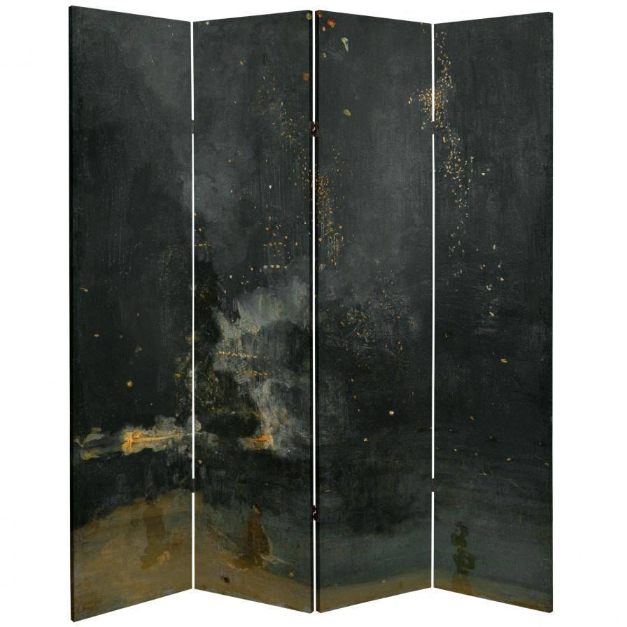 6 ft. Tall Double Sided Works of Whistler Canvas Room Divider