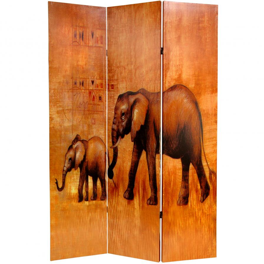 6 ft. Tall Giraffe & Elephant Double Sided Room Divider