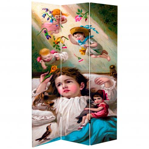6 ft. Tall Double Sided Magical Dreams Room Divider
