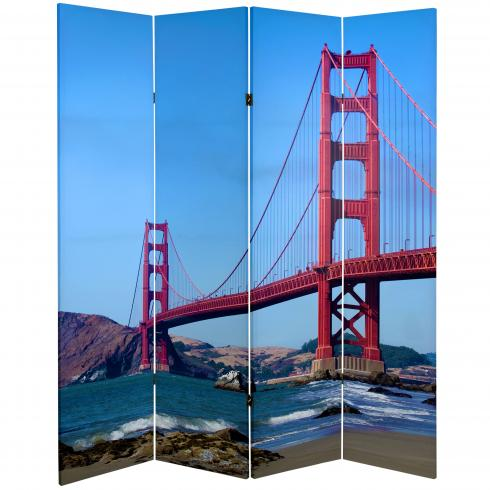 6 ft. Tall Double Sided Bridges Room Divider