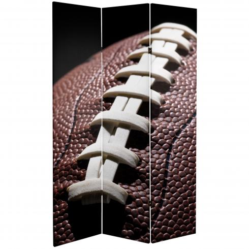 6 ft. Tall Double Sided Football Canvas Room Divider