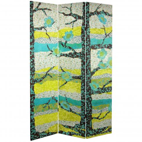 6 ft. Tall Sylvan Collage Canvas Room Divider