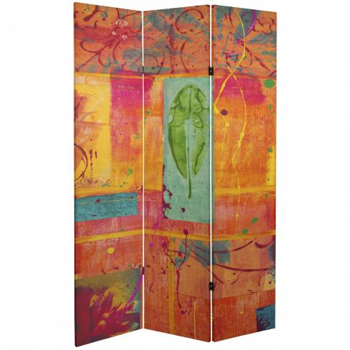 6 ft. Tall Double Sided Tangerine Dream Canvas Room Divider