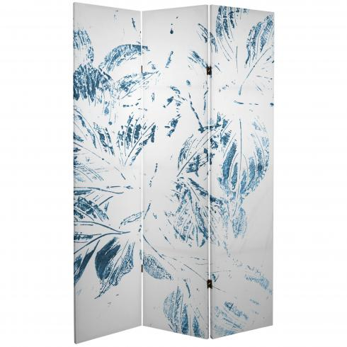 6 ft. Tall Double Sided Pure Leaves Canvas Room Divider