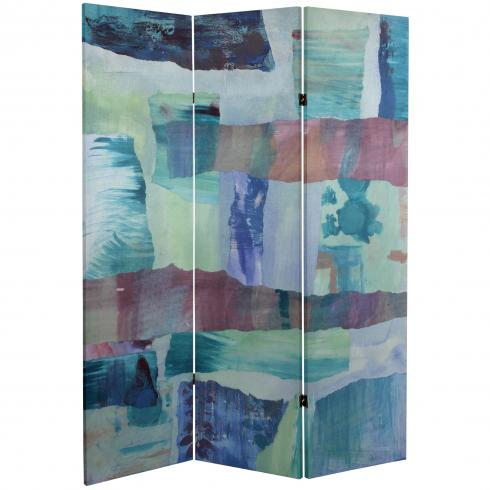 5 ft. Tall Ocean Dance Canvas Room Divider