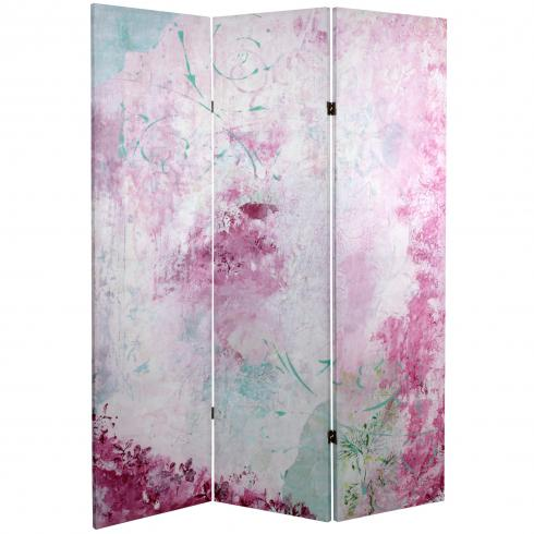 5 ft. Tall Pink Boudoir Canvas Room Divider