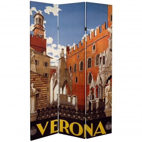 6 ft. Tall Double Sided Capri/Verona Room Divider