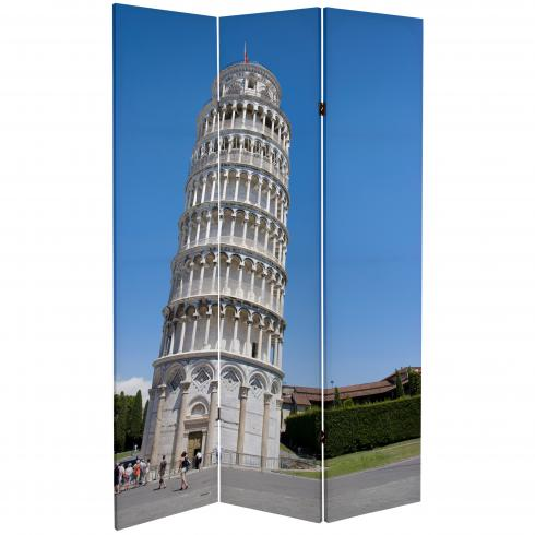 6 ft. Tall Double Sided Pisa and St. Peter's Canvas Room Divider