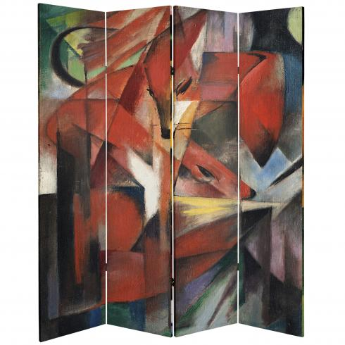 6 ft. Tall Double Sided Works of Marc Canvas Room Divider