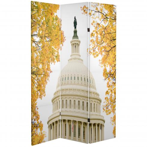 6 ft. Tall Double Sided Memorial Room Divider - Vietnam/Capitol Building