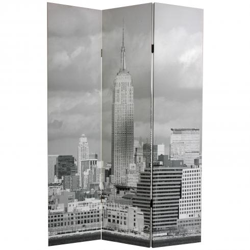 6 ft. Tall Double Sided New York Scenes Room Divider