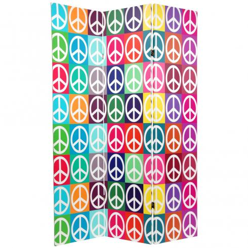 6 ft. Tall Double Sided Peace Room Divider