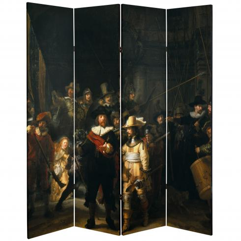6 ft. Tall Double Sided Works of Rembrandt Canvas Room Divider