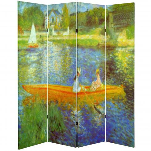 6 ft. Tall Double Sided Works of Renoir Room Divider - The Seine/The Luncheon