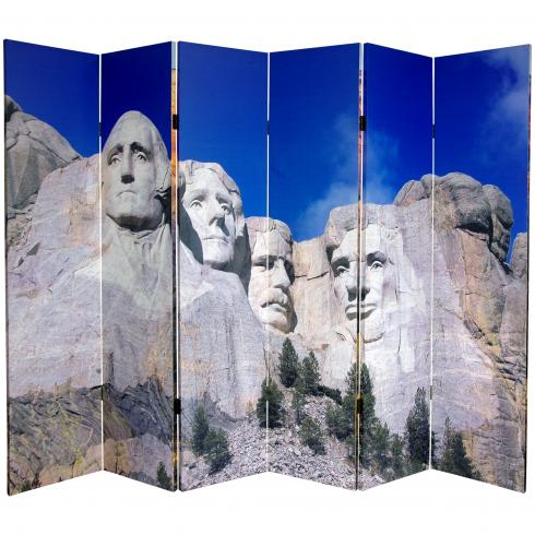6 ft. Tall Double Sided Monuments Canvas Room Divider - Rushmore/Grand Canyon