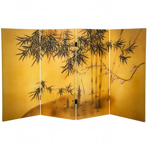 3 ft. Tall Double Sided Bamboo Tree Canvas Room Divider