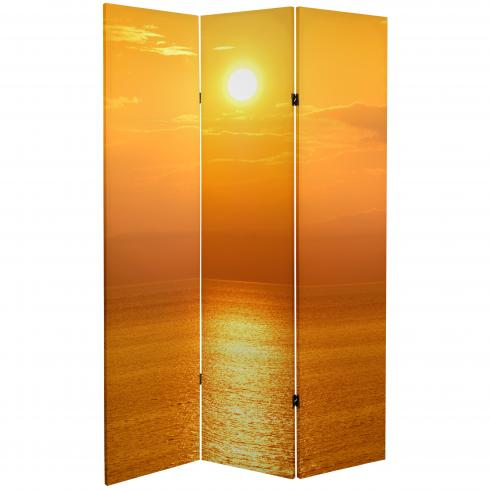 6 ft. Tall Double Sided Sunrise Room Divider