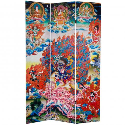 6 ft. Tall Palden Lhamo Double Sided Canvas Room Divider