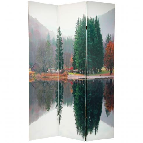 6 ft. Tall Double Sided Trees Room Divider