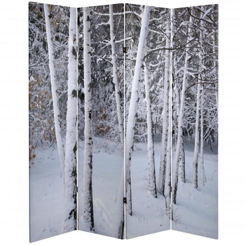 6 ft. Tall Double Sided Birch Trees Room Divider